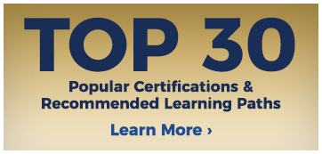 Top 30 popular certifications and recommended learning paths